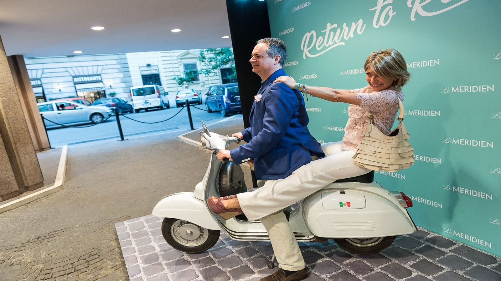 le meridien vespa at the entrance